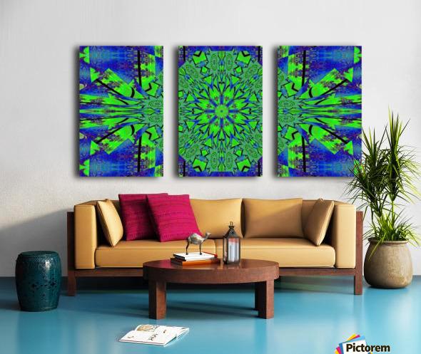 Dahlia in Green Split Canvas print