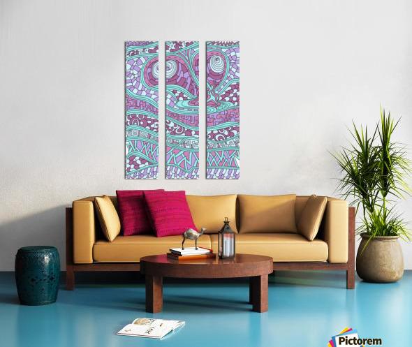 Wandering Abstract Line Art 03: Pink Split Canvas print