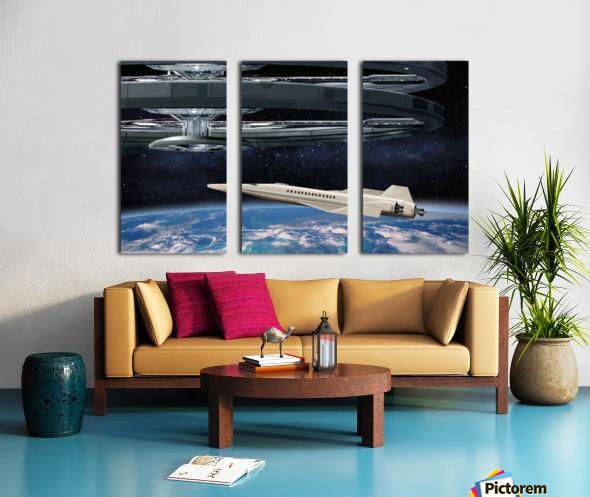 Shuttle104 Split Canvas print