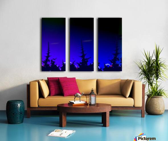 Noche_Azul Split Canvas print