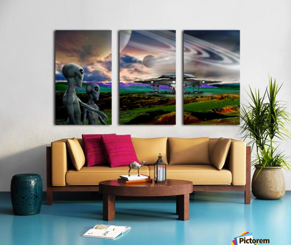 Explorers from Earth Split Canvas print