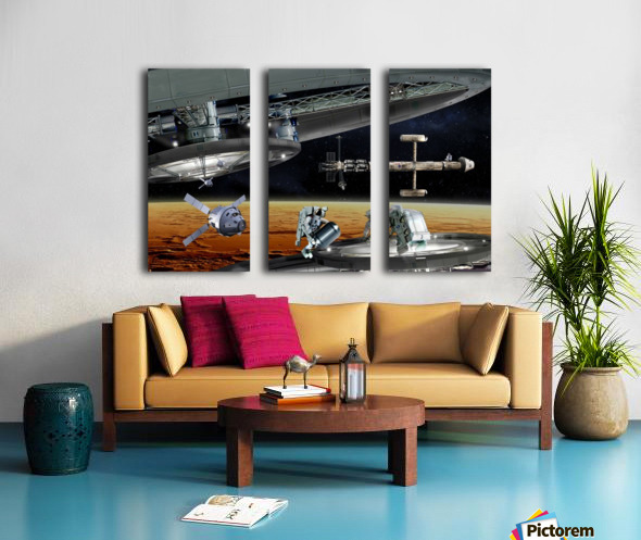 Mars Project 4 Split Canvas print