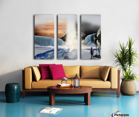 Geyser on Europa Split Canvas print