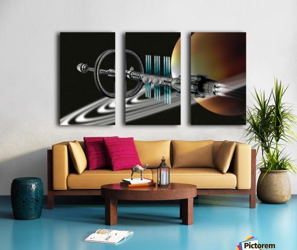 Starship Radial Alliance Split Canvas print