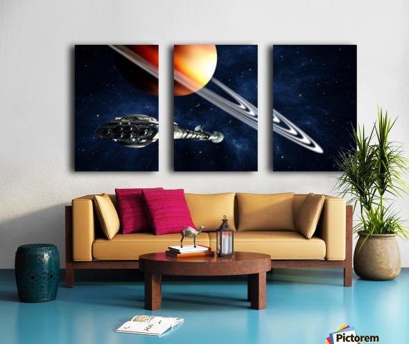 Saturn Fly-By Split Canvas print