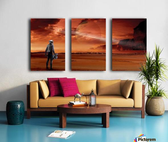 TItan Explorer Split Canvas print