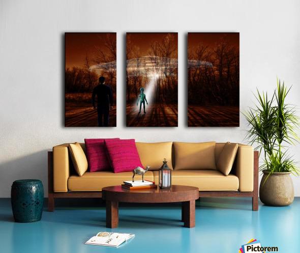 Dark Encounter Split Canvas print