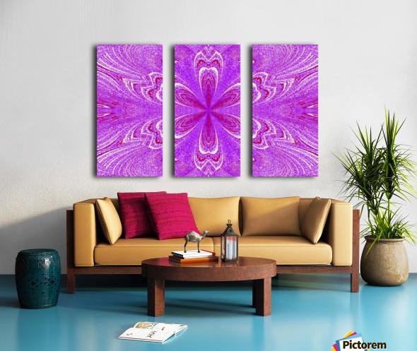Red Pink Star Flower Split Canvas print