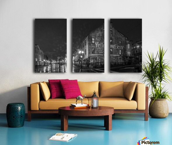 Rain Drizzle and Beer Split Canvas print