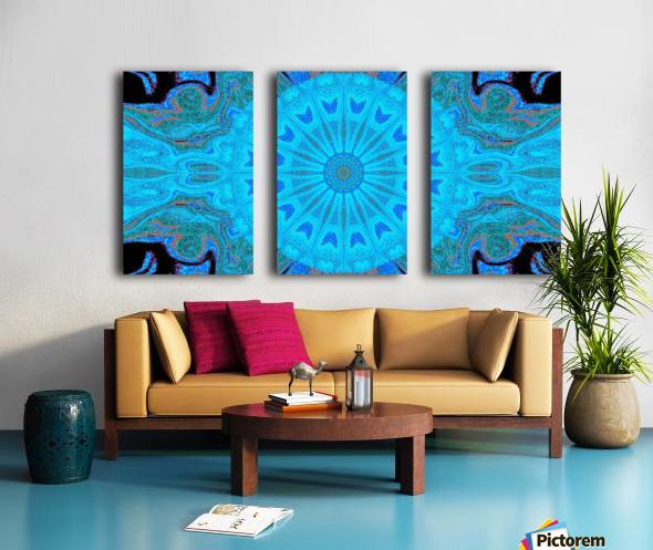 Blue Wildflower in Light Split Canvas print