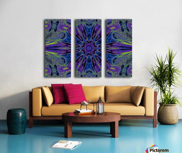 Butterfly Flight Flower Split Canvas print