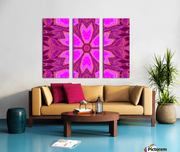 Coral Dawn Split Canvas print