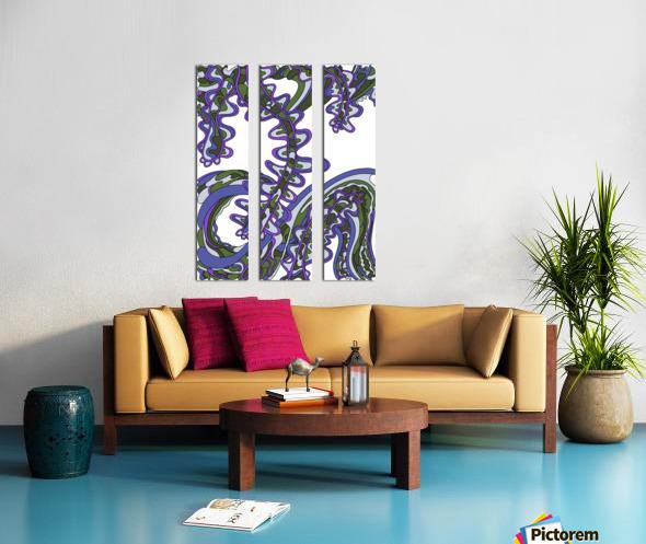 Wandering Abstract Line Art 07: Purple Split Canvas print