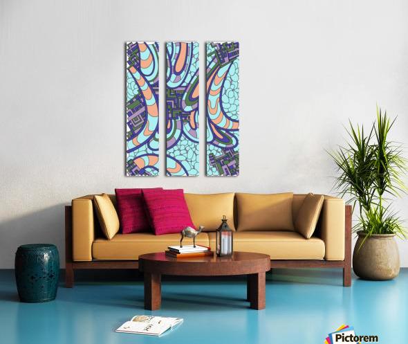 Wandering Abstract Line Art 09:  Split Canvas print