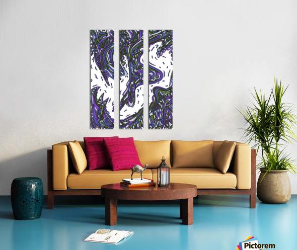 Wandering Abstract Line Art 14: Purple Split Canvas print