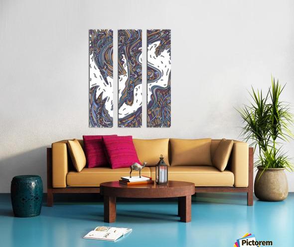 Wandering Abstract Line Art 14: Yellow Split Canvas print
