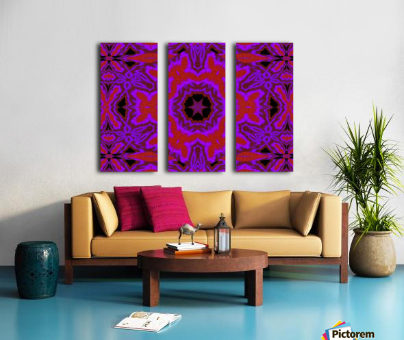 Purple Wind Flower 3 Split Canvas print