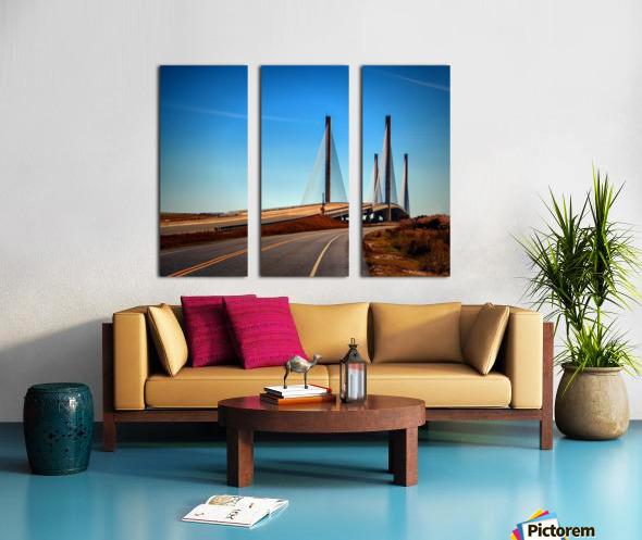 Indian River Bridge North Approach Split Canvas print