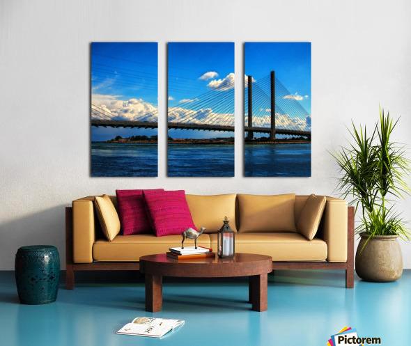 South Stanchions of the Indian River Inlet Bridge Split Canvas print