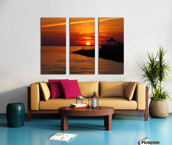 Sunset Over Indian River Inlet And Bay Split Canvas print