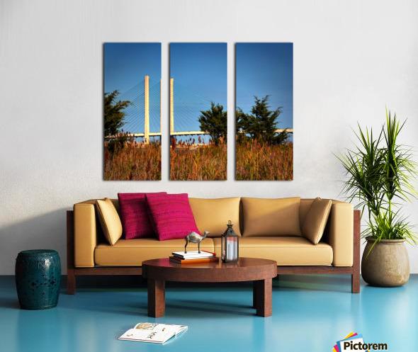 Indian River Bridge Stanchions Standing Tall Split Canvas print