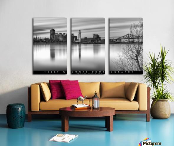 Long Exposure MTL Split Canvas print
