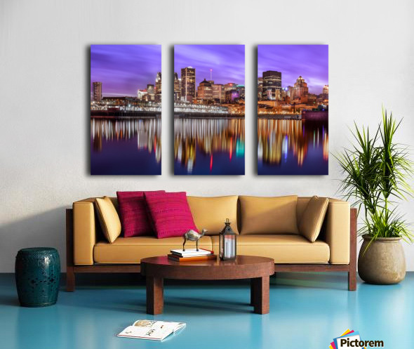 MTL Skyline Split Canvas print