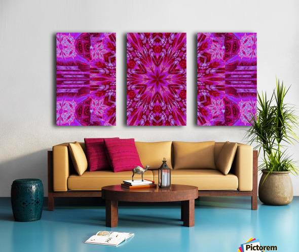 Wildflower in Pink Bloom Split Canvas print