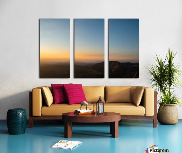 Calming Sunset Split Canvas print