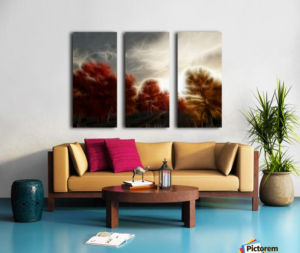 Impressionist Autumn Scene Split Canvas print