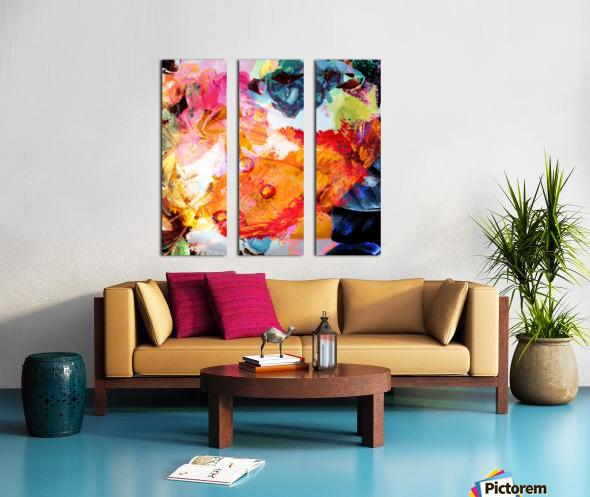 Golden Flame Split Canvas print