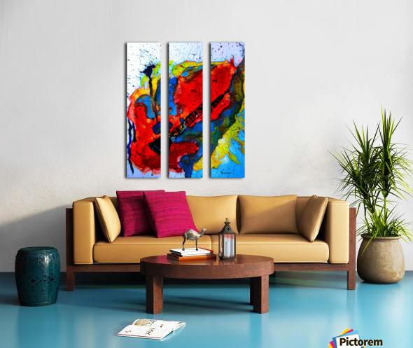 Clarinet electrified Split Canvas print