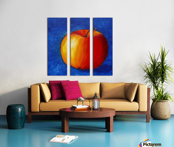 Red Apple - Still Life Painting Split Canvas print