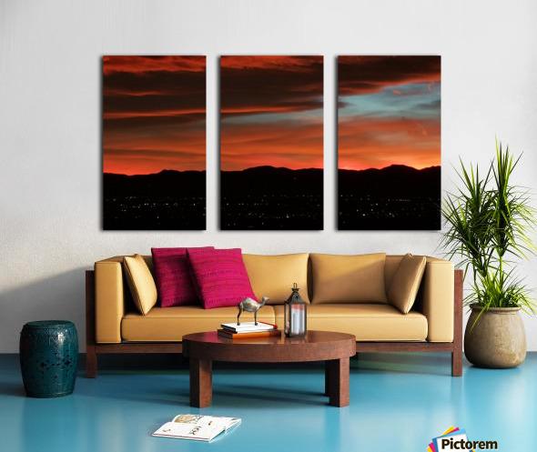 SkyFire Split Canvas print