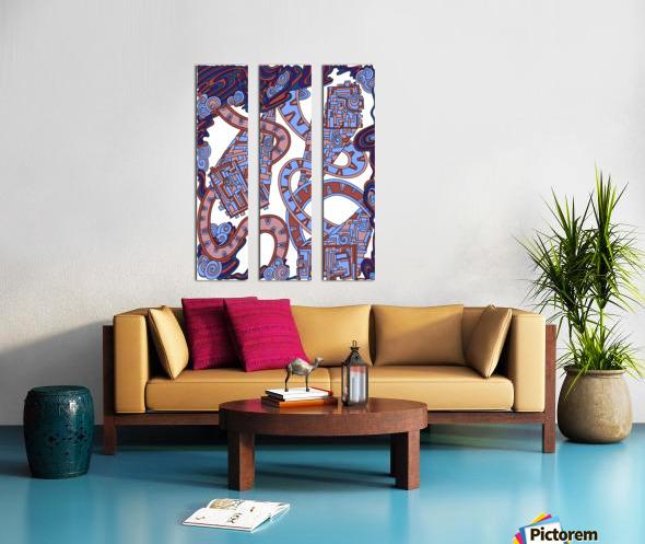 Wandering Abstract Line Art 24: Orange Split Canvas print