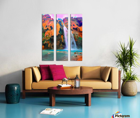 Havasupai Waterfall Split Canvas print