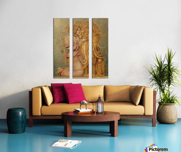 LA_FORZA Split Canvas print