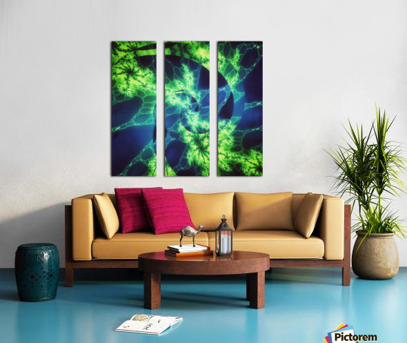 Neurospiral Split Canvas print