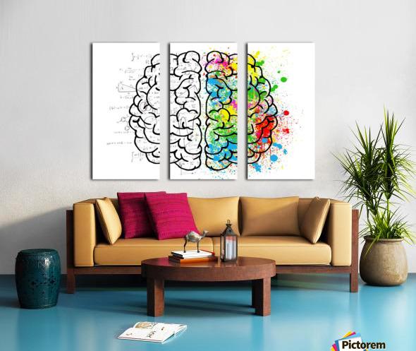 brain mind psychology idea drawing Split Canvas print