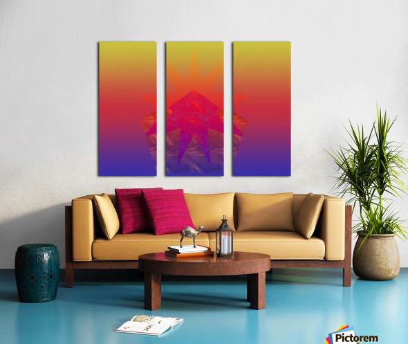 Polygon & Star V4 Split Canvas print