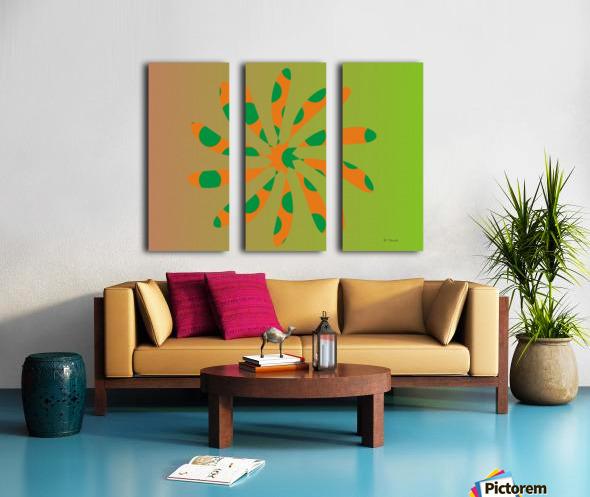 Star Shaped Polygons 01 Split Canvas print