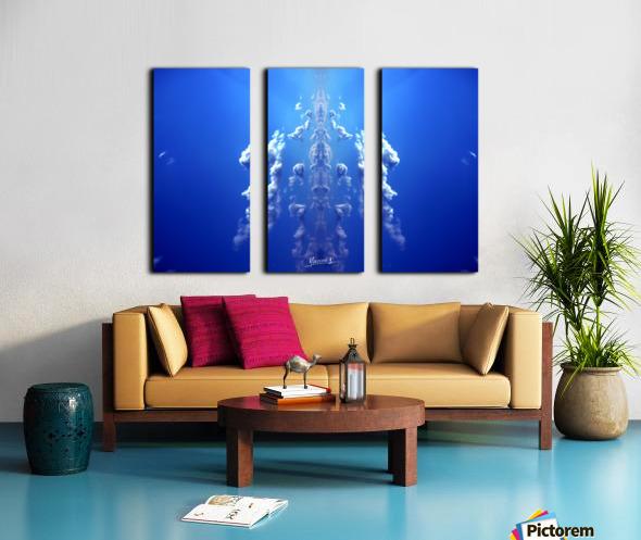 blue 1 Split Canvas print
