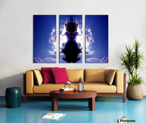 blue 2 Split Canvas print