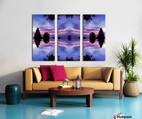 blue 11 Split Canvas print