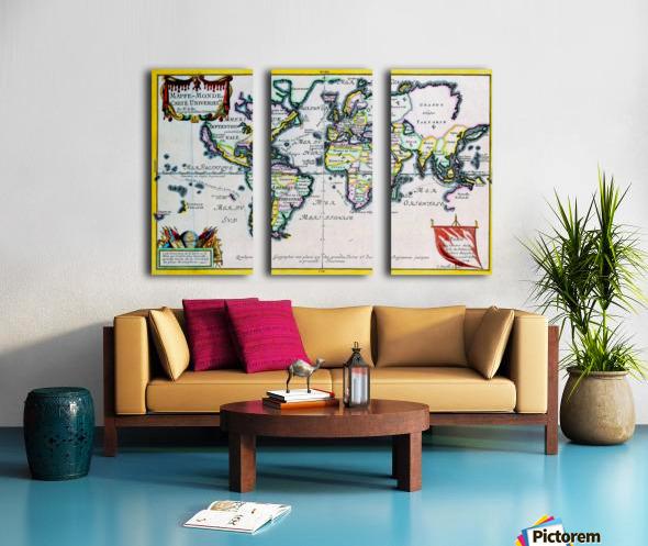 Ancient World Map 4 Split Canvas print