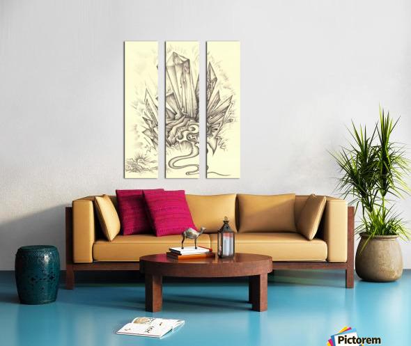 Crystal Split Canvas print