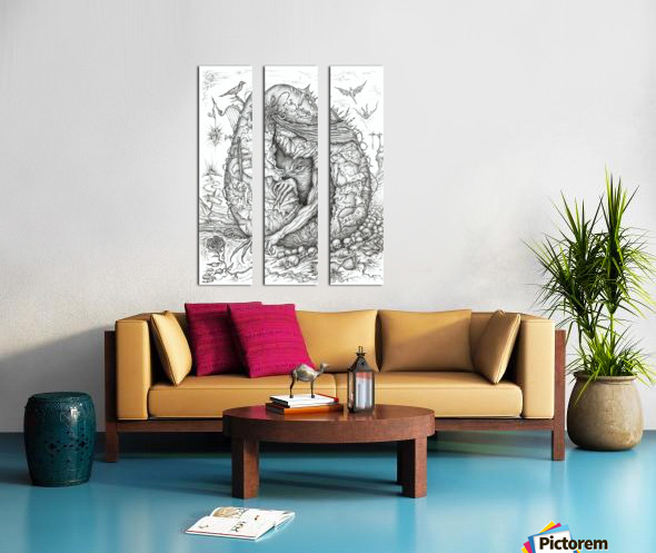 Monster_Hatching_From_The_Egg Split Canvas print