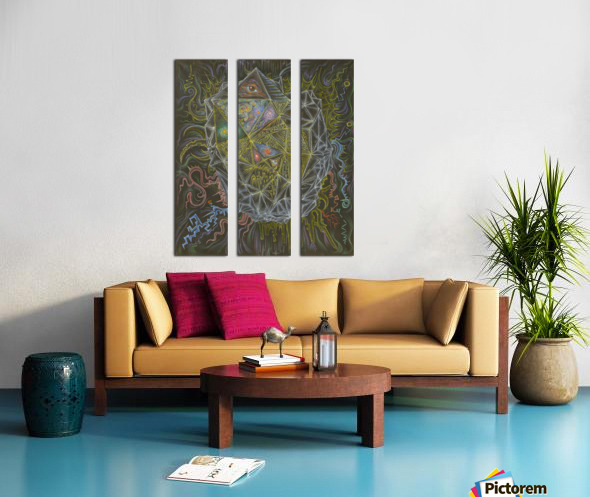 Deity_From_The_Abyss Split Canvas print