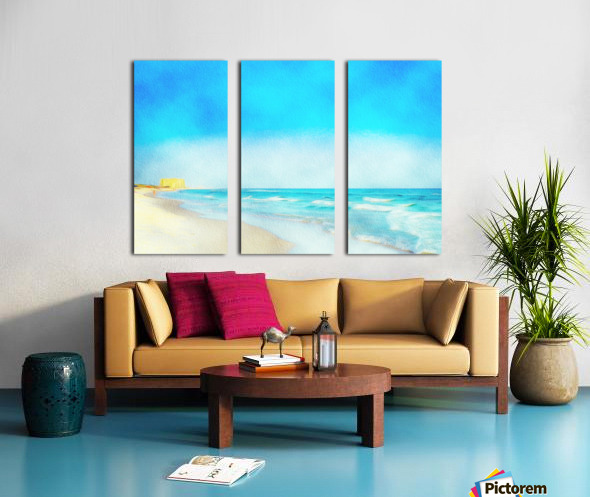 30A Coastline Split Canvas print
