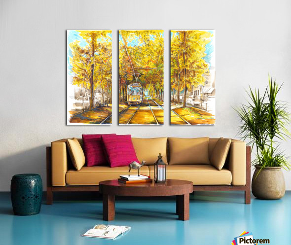 Autumn_Blues Split Canvas print